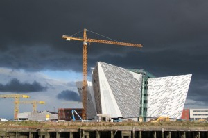 Belfast-Titanic interpretive center at Harland & Wolff Shipyards
