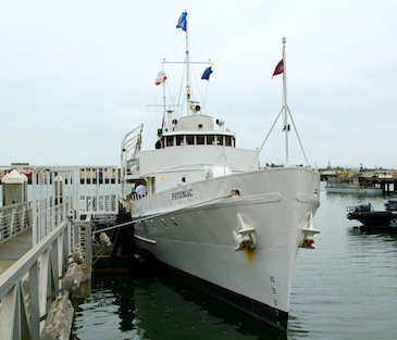 """FDR's """"Floating White House"""" USS Potomac Home Ported in Oakland CA"""