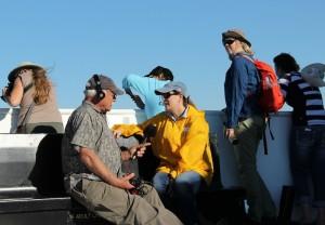 Naturalist Guide Leslie Rapp aboard M.V. Adventure Hornblower