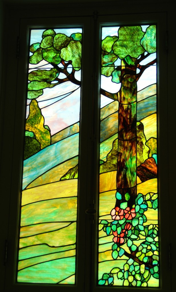 Stain glass art at Hot Springs bathhouse