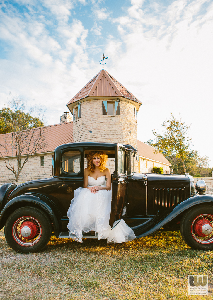 Hill country castle wedding