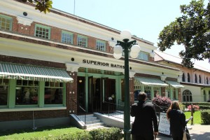 Superior Bathhouse in downtown Hot Springs Arkansas