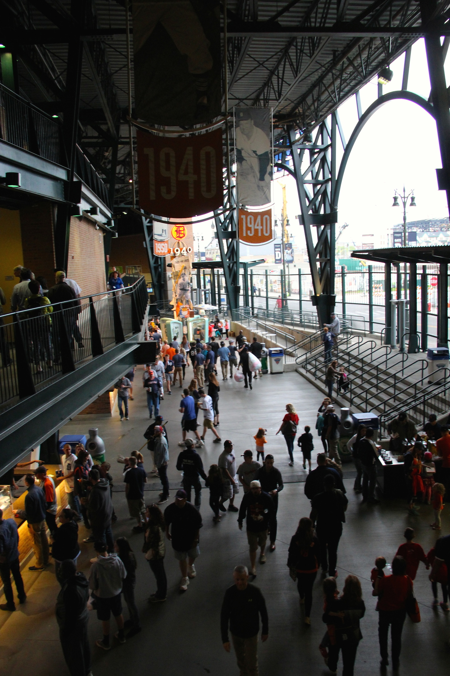 Comerica Park home of the Tigers in downtown Detroit is a social affair  Photo Credit:Tom Wilmer