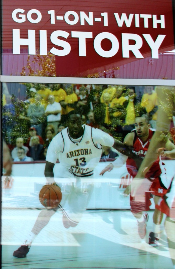 History of basketball featured at College Basketball Experience at Sprint Center Kansas City, Missouri. Photo Credit: Thomas Wilmer