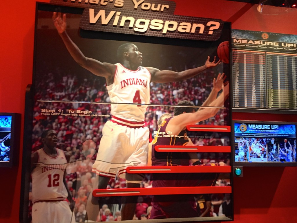 Wingspan test at College Basketball Experience