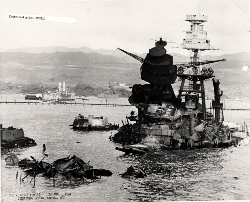 USS Arizona December 10, 1941 Photo Credit: National Archives and Records Administration