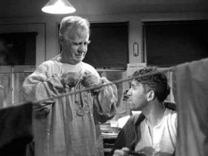 Its a wonderful life Clarence and George drying their clothes