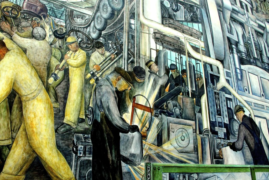 Diego Rivera fresco at Detroit Institute of Art
