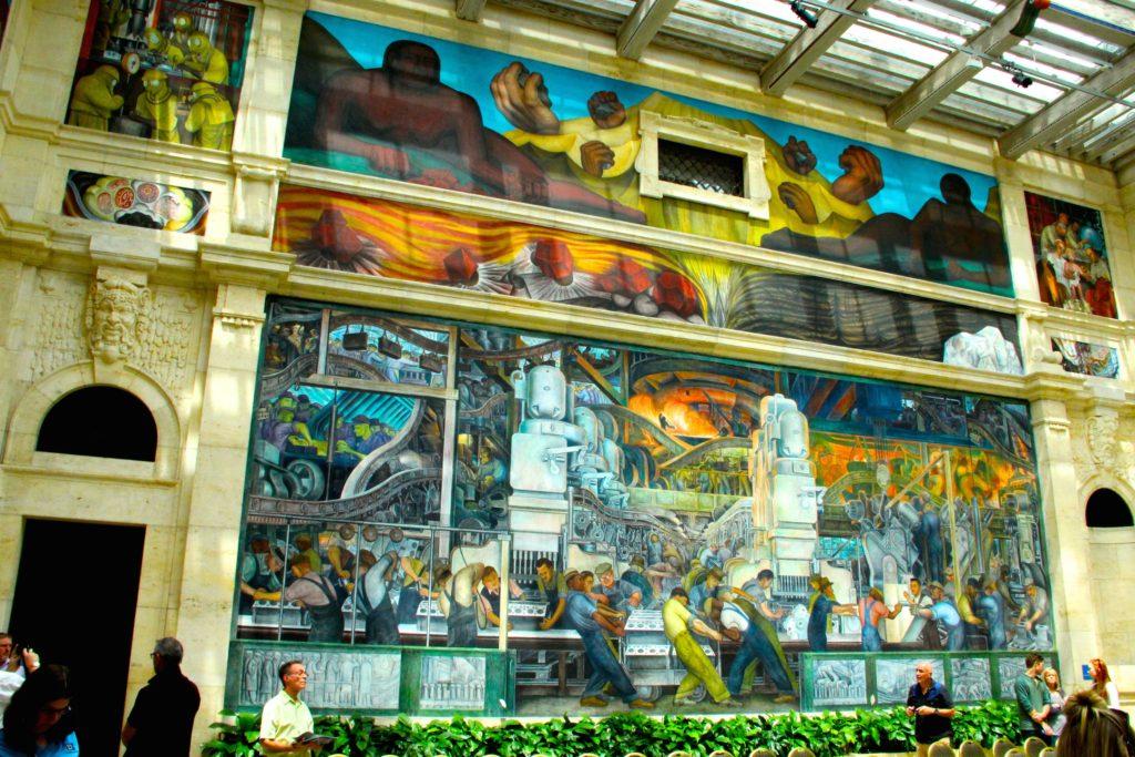 Dramatic Diego Rivera frescos at DIA Photo Credit: Tom Wilmer