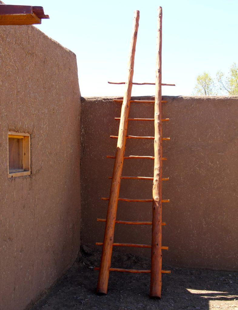 Taos Pueblo residential courtyard