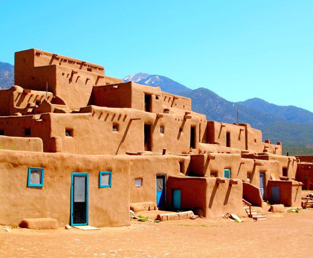 Main Pueblo complex at Taos Pueblo