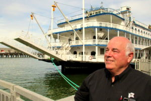 Terry MacCrae CEO Hornblower Cruises on the dock in San Francisco. Photo Credit: Tom Wilmer