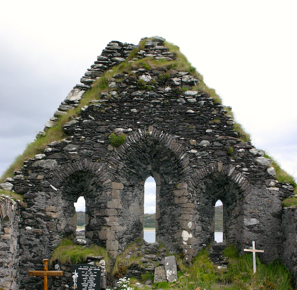 Ancient abby along the Ring of Kerry, Ireland. Photo credit: Tom Wilmer