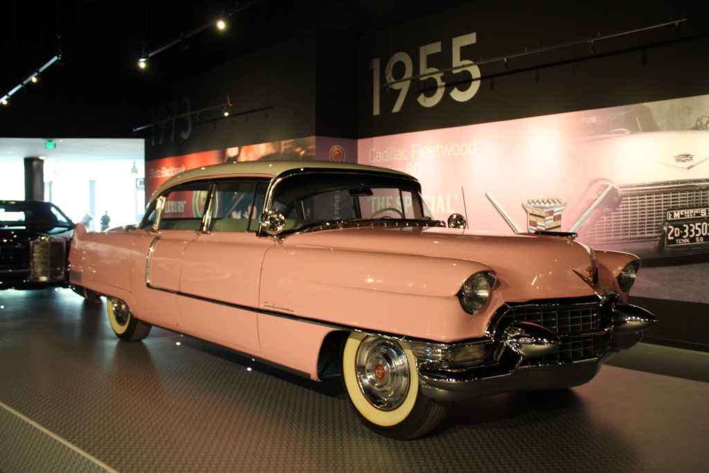 Elvis's pink Caddie on display at new Graceland Entertainment Complex in Memphis, Tennessee