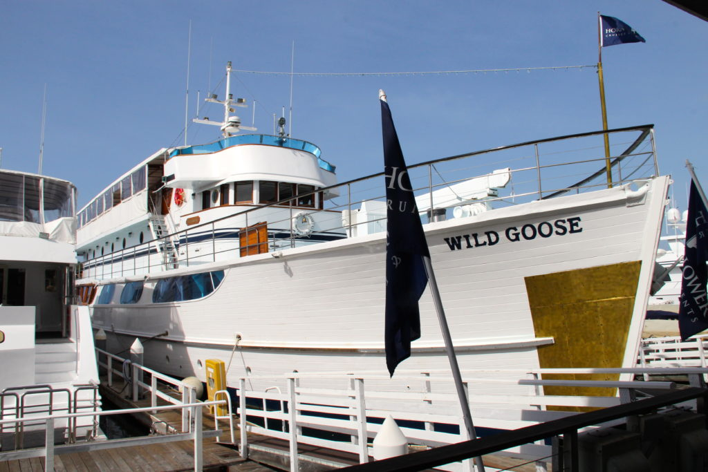John Wayne's yacht The Wild Goose moored in Newport Beach, California