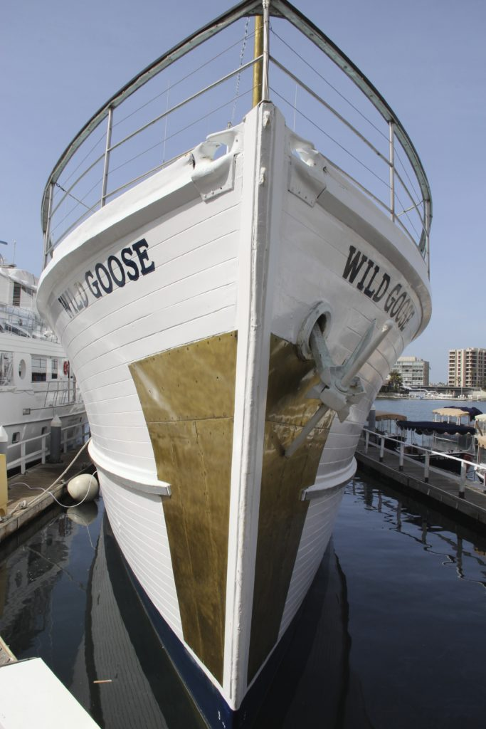Wild Goose is a converted WWII Navel minesweeper buit in 1942.