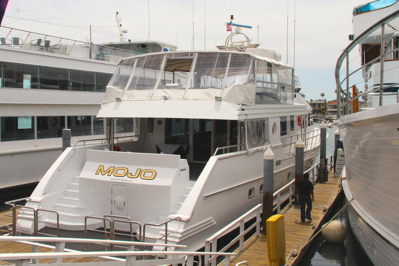 M.V. Mojo today in Newport Beach, California where it serves as a luxury charter yacht operated by Hornblower Cruises