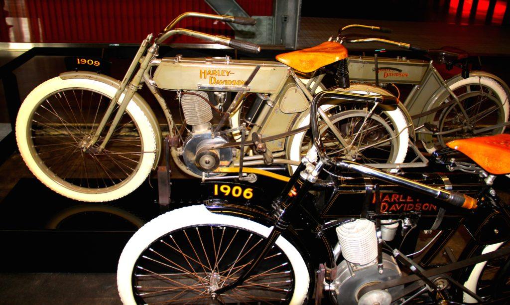 1909 & 1906 Harley-Davidson motorcycles at Harley-Davidson Museum