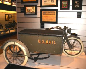 1916 US Mail Harley-Davidson at Harley Davidson Museum  Photo Credit: Tom Wilmer