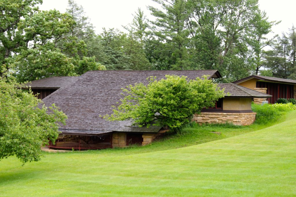 Frank Lloyd Wright's home, Taliesin, exemplifies his belief in melding nature with architecture