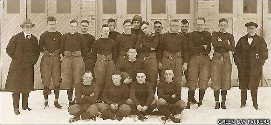 1919 Green Bay Packers football team Photo Credit: Green Bay Packers