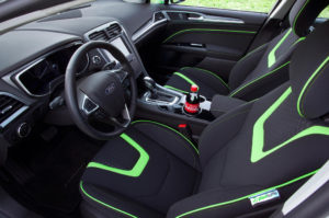 2104 Ford Fusion seats made from recycled pop bottles. Photo Credit: Ford Motor Company