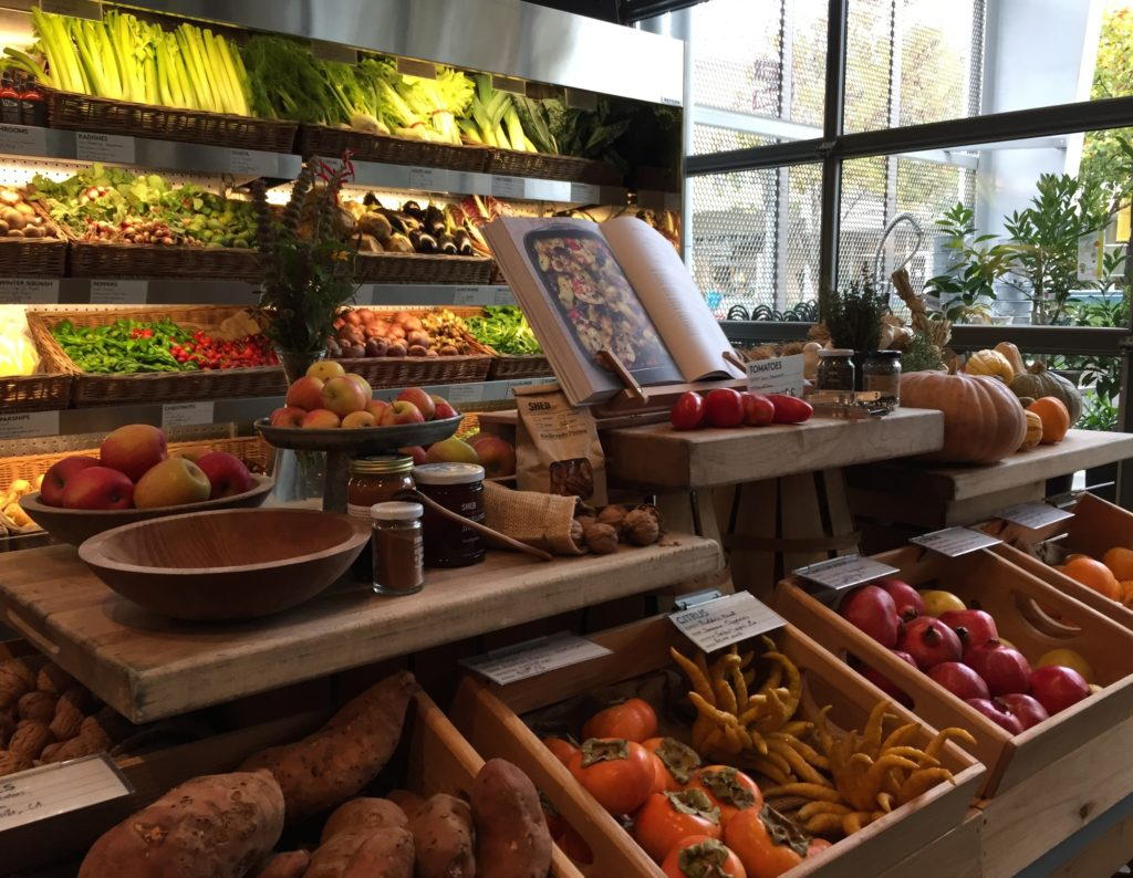 The Shed in downtown Healdsburg, California specializes in local fresh, organic produce and delectable cuisine. Photo Credit: Tom Wilmer