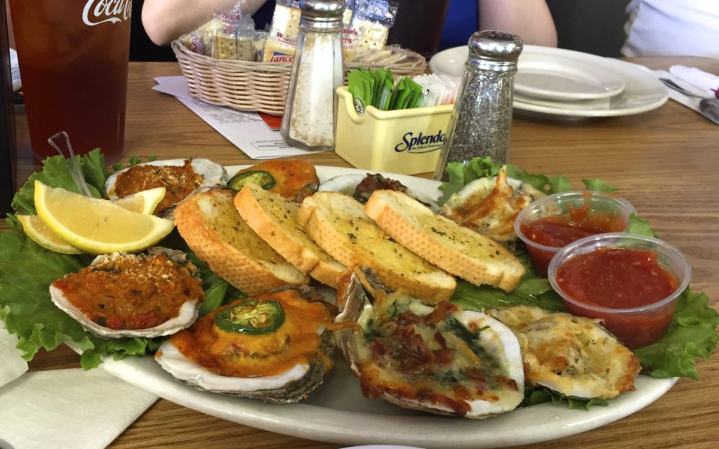 Oysters however you like 'em at King Netpune's Diner in Gulf Shores, Alabama. Photo Credit: Tom Wilmer