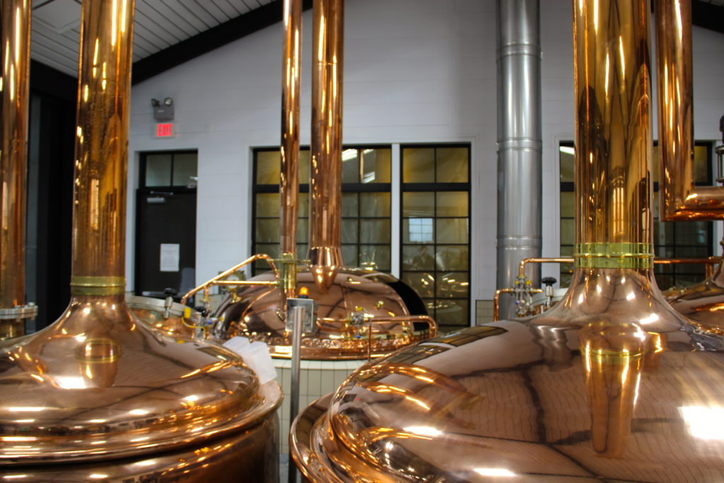 Traditional copper distillation pots at Altstadt Brewery Fredericksburg, Texas Photo Credit: Tom Wilmer