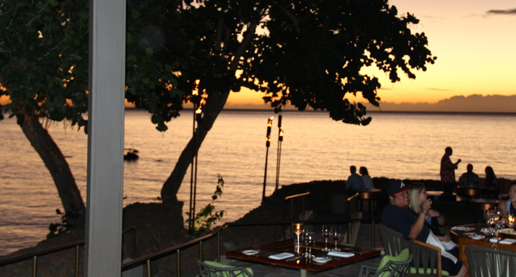 Al Fresco sunset dining at the legendary Manta Restaurant Mauna Kea Resort Hotel. Photo Credit: Tom Wilmer