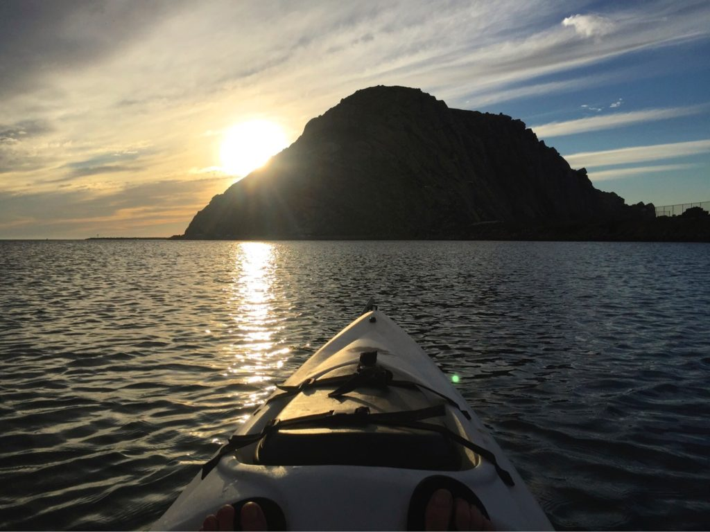 Kayaking on Morro Bay. Photo Credit: Tom Wilmer