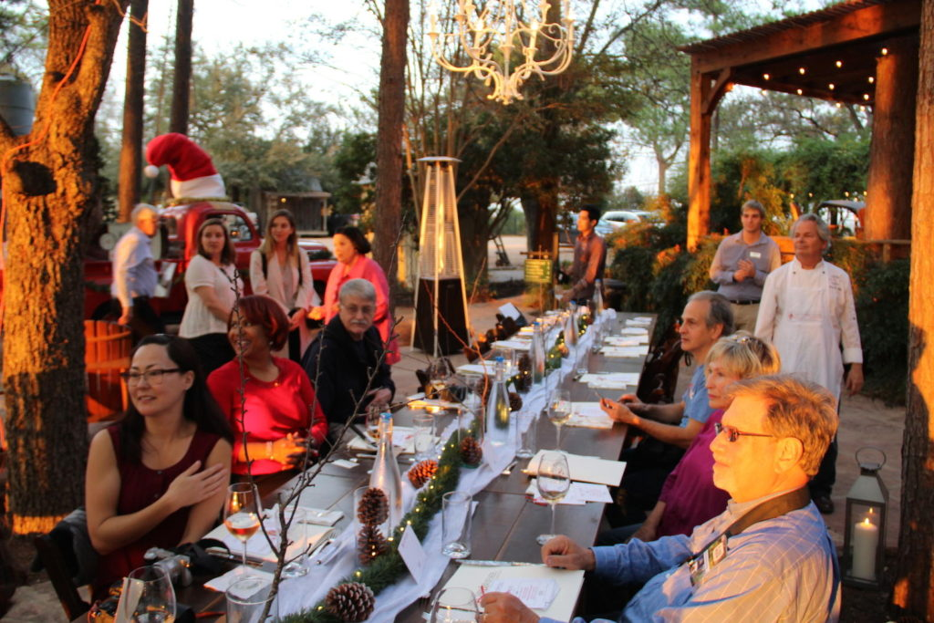 A special dinner at Fischer & Wieser Culinary Adventures in Fredericksburg, Texas featuring Lewis Wines. Photo Credit: Tom Wilmer