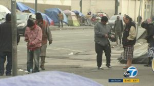 Skid Row Los Angeles. Photo Credit: ABC Channel 7 Los Angeles