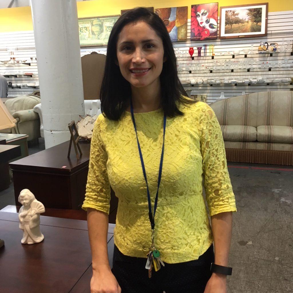 Carla Contreras, Deputy Director of Store Operations at Saint Vincent de Paul's Thrift Store