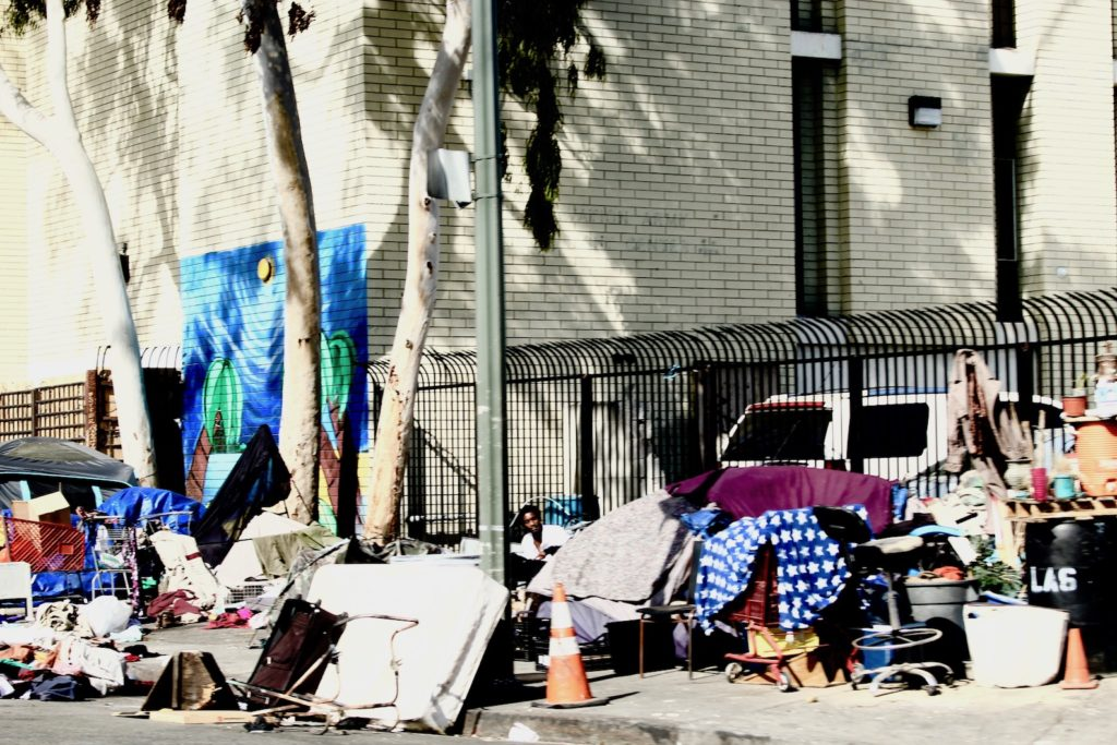 Skid Row LA is home to more than 2,000 homeless