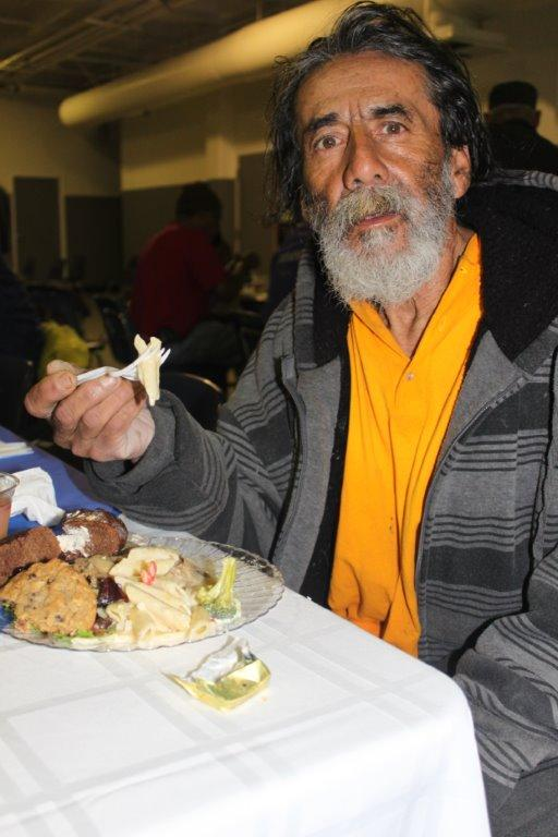 Thanksgiving Dinner at the Cardinal Manning Center, Skid Row, Los Angeles