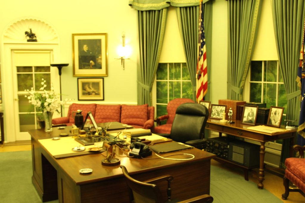 Harry S. Truman's Oval Office, Independence, Missouri. Photo Credit: Tom Wilmer